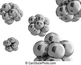 atom - 3d illustration of  atoms