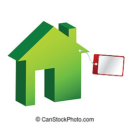 House with price tag illustration