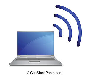 wireless network, wi-fi - illustration of wireless network,...