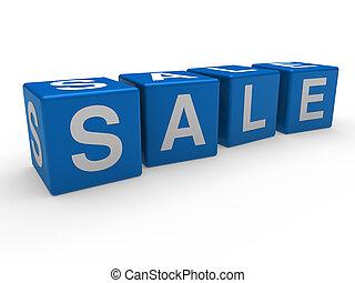 3d blue sale cube