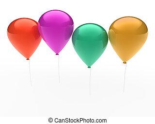 3d ballon colorful