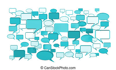 Blue conversation icons 3D - This Blue conversation icons 3D...