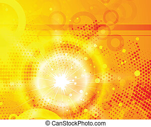 Vector orange shiny background - Vector illustration for...