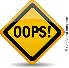 Vector oops sign isolated on white, eps10