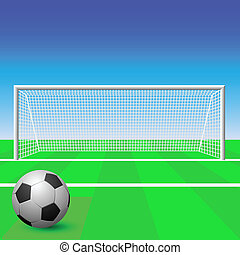 Soccer Goal - A Soccer Goal with Ball