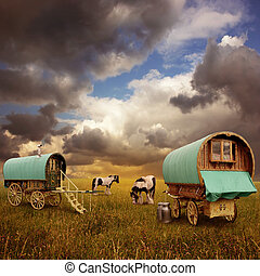 Gypsy Wagons, Caravans - Old Gypsy Caravans, Trailers,...