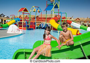 Kids at a water park