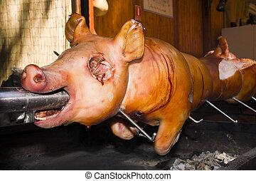 Piglet roast - Roasting a whole piglet