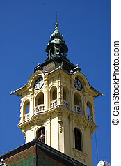 Town Hall in Szeged - The tower of the Town Hall in Szeged
