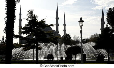 Blue Mosque Scene Sultan Ahmet Mosque, shooting Canon 5D...