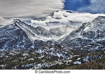 Glacier Gorge in Rocky Mountains National Park - View of the...