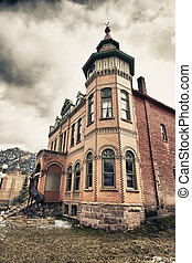 Old building in Ouray city, Colorado