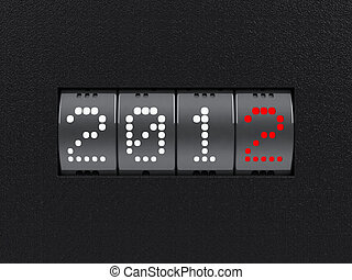 New year 2012 counter - Design component of a counter dial...