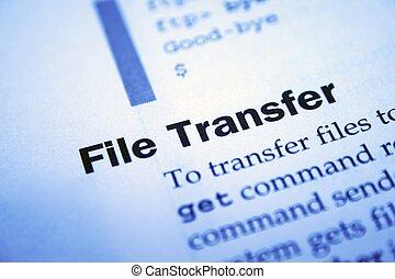 transferencia, archivo