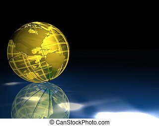 earth globe - 3d illustration of earth globe