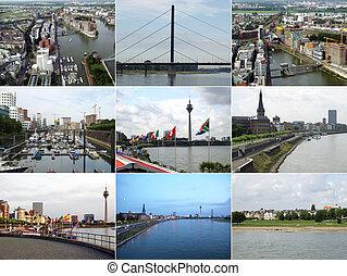 Duesseldorf landmarks - Famous landmarks and monuments...
