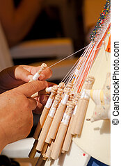 Bobbin lace making