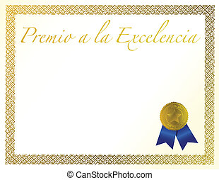 Spanish Award of Excellence with golden ribbon