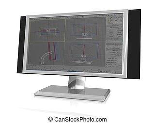 computer - 3dillustration of computer