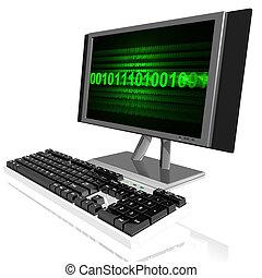 computer - 3d illustration of computer