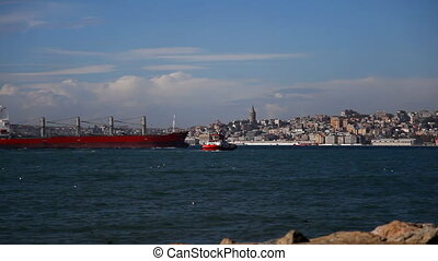 Container Ship - this big container ship, shooting Canon 5D...