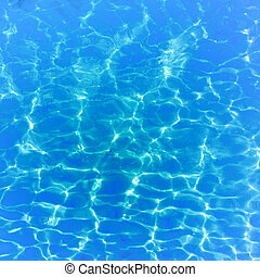 Clear blue water background - Clear blue ocean water in Siam...