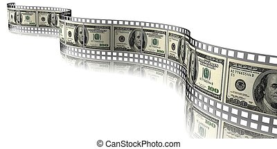 money  - 3d illustration of money and Film Strip
