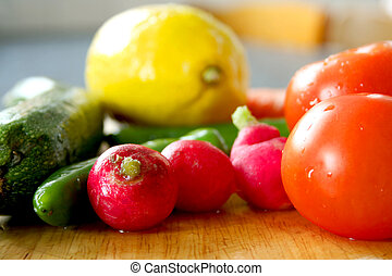 Washed Vegs - Close up image of fresh and clean vegetables...