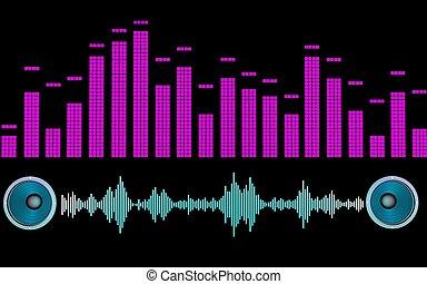 sound - 3d illustration of speaker