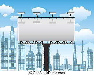 billboard in city,Vector illustration