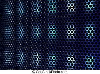 sound - Beautiful close up net texture of black sound...