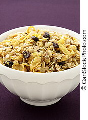 delicious and healthy granola or muesli, with lots of dry...