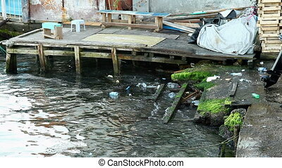 water pollution - Polluted water, shooting Canon 5D MarkII