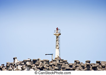 lighthouse - white lighthouse on Seashore