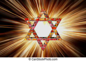 Star of David - A Star of David in colored light