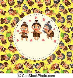Cartoon caveman card