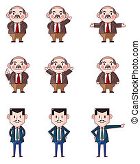 My boss icons,office worker