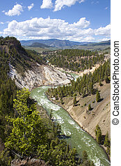 Yellowstone River in Calcite springs, Yellowstone National Park, WY