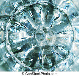 abstract round blue glass background