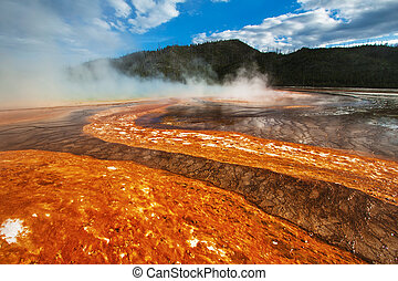 Grand Prismatic Spring, Yellowstone, WY - Grand Prismatic...