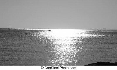 black white sunrise, shoot Canon 5D Mark II