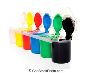 colour-box isolated on a white background