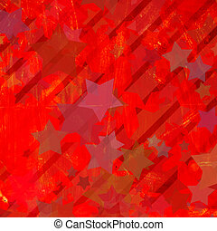 grunge colorful stars