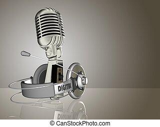 Headphone - illustration of headphone kept on isolated...