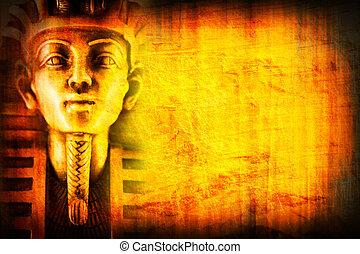 egypt background2 - egypt background with pharaon