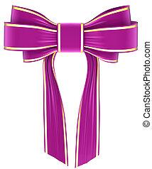 magenta bow