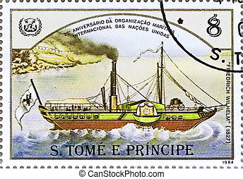 Steamship Friedrich Wilhelm - ST. THOMAS AND PRINCE ISLANDS...