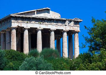 templo, Hephaistos, atenas