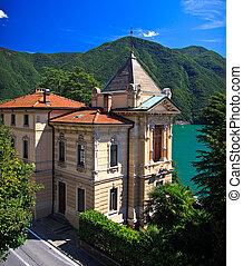 Villa in Lugano city near lake Lugano