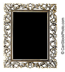 golden frame on a white background